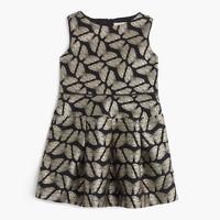 Girls' butterfly jacquard dress