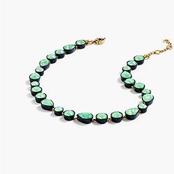Sea glass br�lée necklace