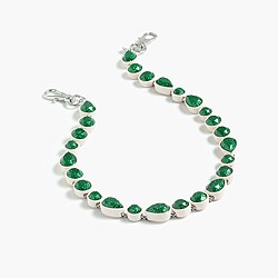Sea glass br�lée necklace
