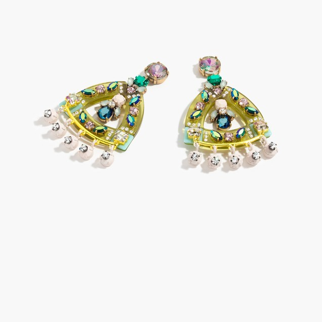 Lucite and crystal earrings j crew for J crew jewelry 2015