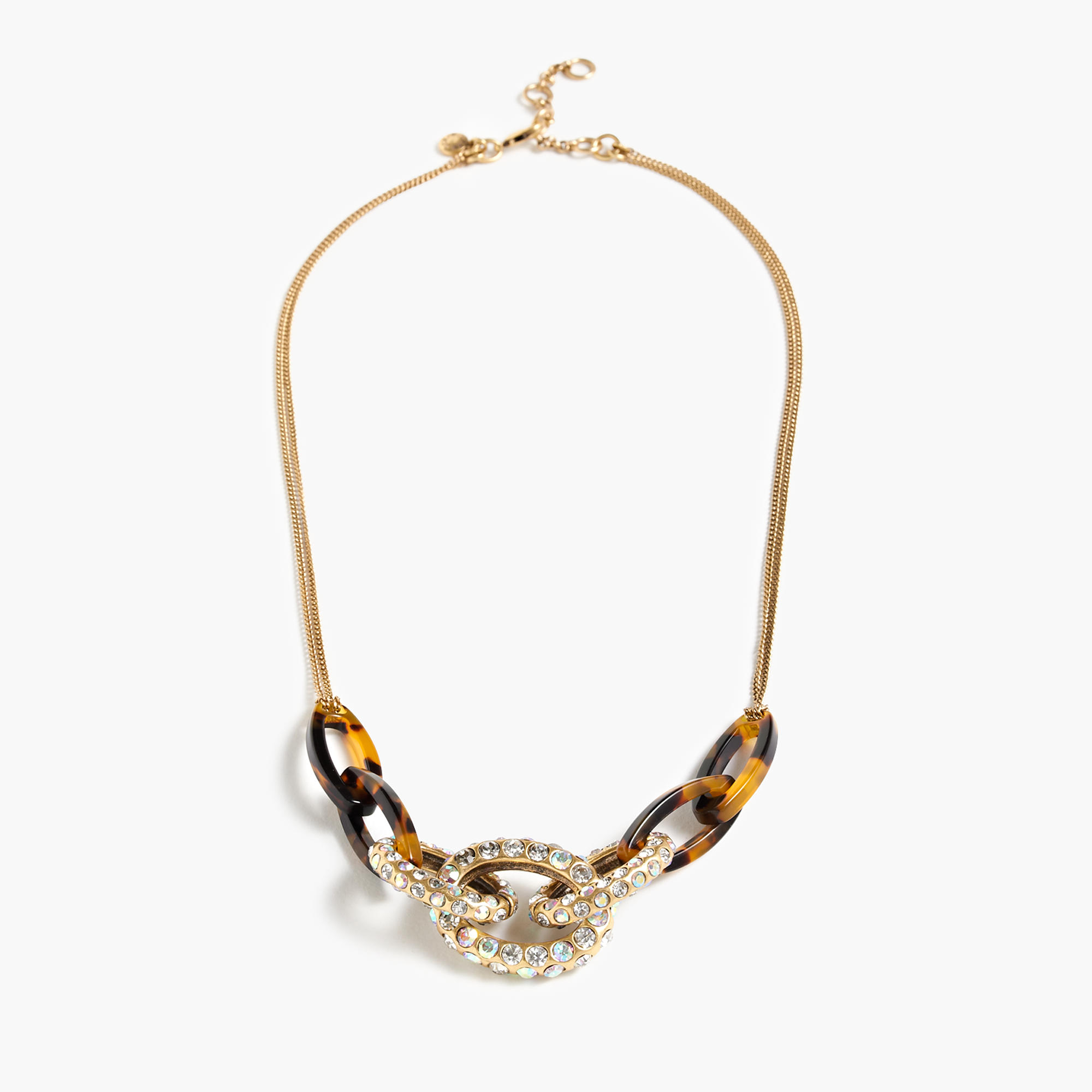 Pav tortoise link necklace j crew for J crew jewelry 2015