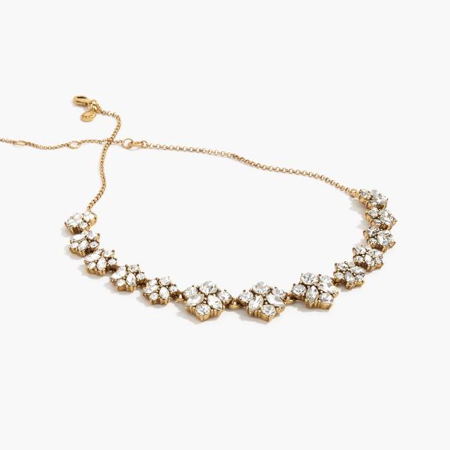 Clustered crystal necklace