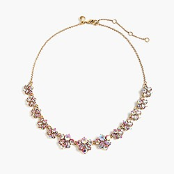 Clustered crystal necklace