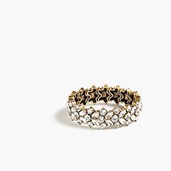 Clustered crystal stretch bracelet