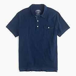 Wallace & Barnes indigo polo shirt