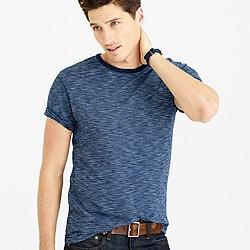 Wallace & Barnes indigo striped T-shirt
