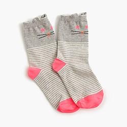 Girls' cat socks
