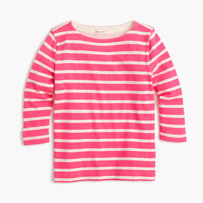 Girls' striped T-shirt