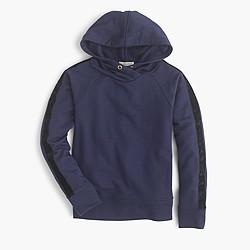 Girls' sparkle-stripe popover hoodie
