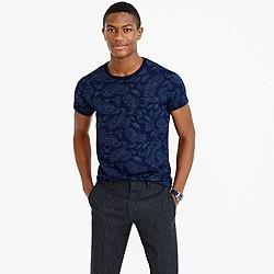 Wallace & Barnes paisley indigo T-shirt