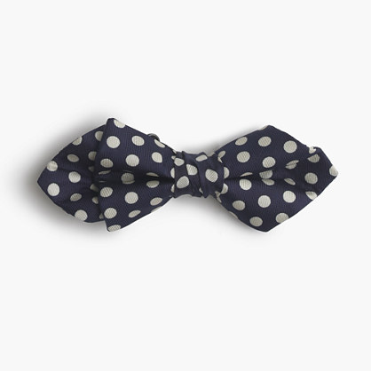 Boys' silk bow tie in printed dot