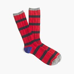 Cashmere naval-striped socks