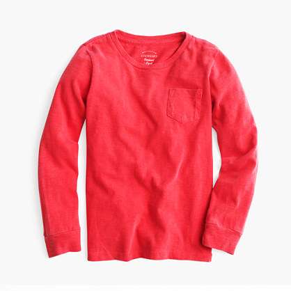 Kids' long-sleeve garment-dyed T-shirt