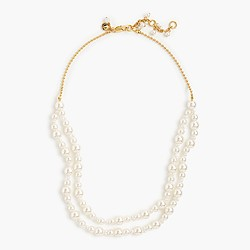 Girls' double-strand pearl necklace