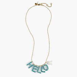 Girls' glitter Max the Monster necklace