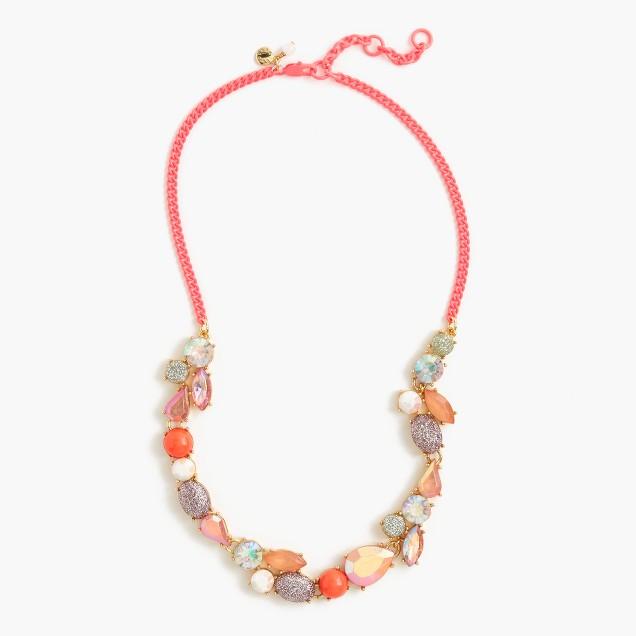 Girls' mixed-stone necklace