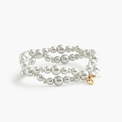 Girls' double-strand pearl bracelet