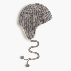 Ribbed trapper hat