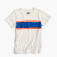Boys' triple-striped pocket T-shirt