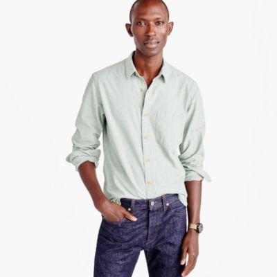 Slub cotton shirt in solid
