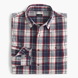 Slim rustic cotton shirt in Loyola plaid