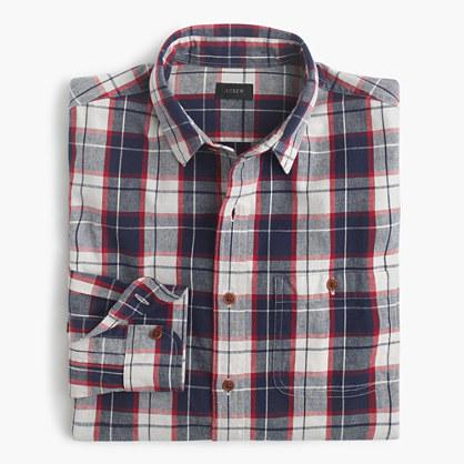 Slim rustic cotton shirt in Loyola plaid