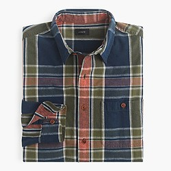 Rustic cotton shirt in Custer plaid