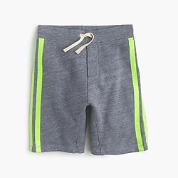 Boys' Cooper pull-on sweatshort in glow-in-the-dark stripe