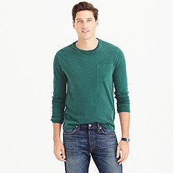 Tall long-sleeve garment-dyed T-shirt