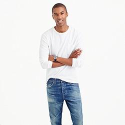Long-sleeve garment-dyed T-shirt