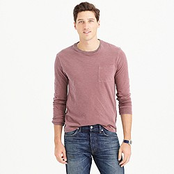 Long-sleeve garment-dyed T-shirt