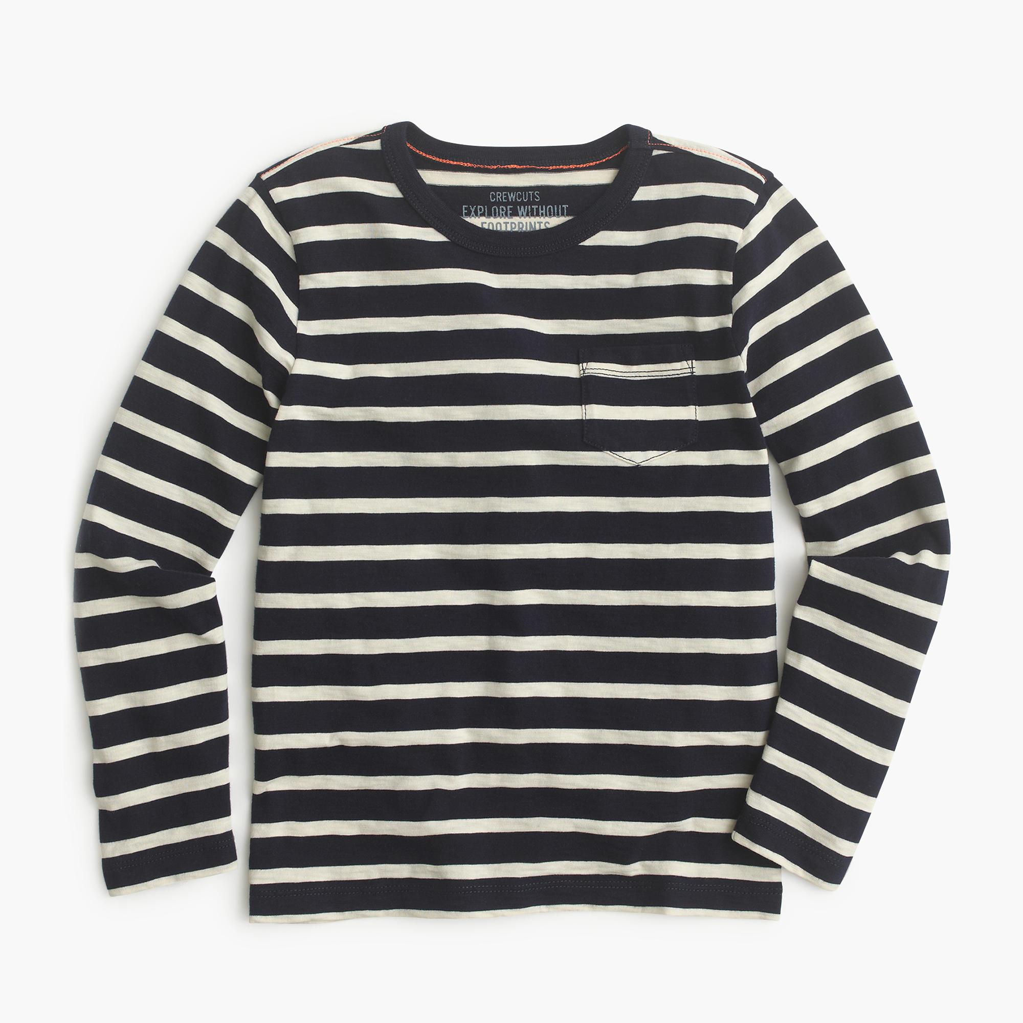 Boys 39 long sleeve pocket t shirt in nautical stripe boys for Boys pocket t shirt