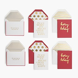 Sugar Paper® for J.Crew red-and-gold holiday note set