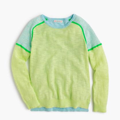 Girls' colorblock popover sweater