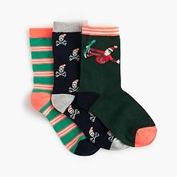 Boys' Santa socks three-pack