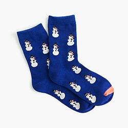 Boys glow-in-the-dark snowman socks