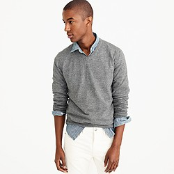 Slim rugged cotton V-neck sweater