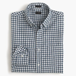 Slim Irish linen shirt in délavé Antrim gingham