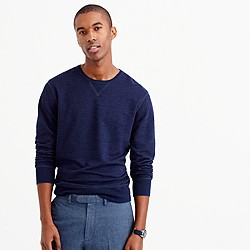 Wallace & Barnes textured cotton long-sleeve indigo T-shirt