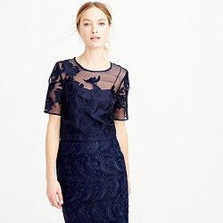 Collection top in embroidered lace
