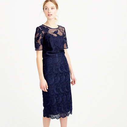 Collection skirt in Swiss lace
