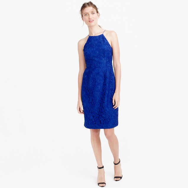 Lydia dress in Leavers lace