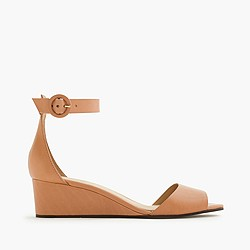 Leather Laila wedges