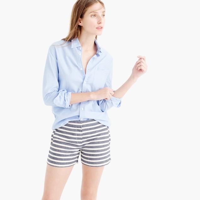 Striped cotton short