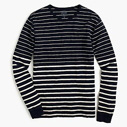 Long-sleeve variegated-stripe T-shirt