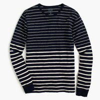 Tall long-sleeve variegated-stripe T-shirt