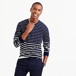 Long-sleeve variegated-stripe T-shirt