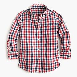 Boys' Secret Wash shirt in check