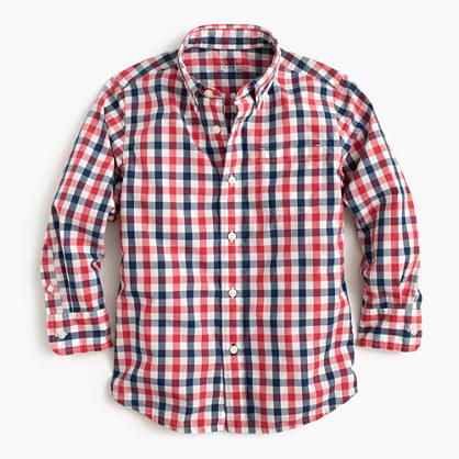 Kids' Secret Wash shirt in check