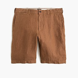 "10.5"" Stanton short in Irish herringbone linen"